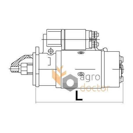 Starter 12V 3kW, 10T for Perkins engine for Massey