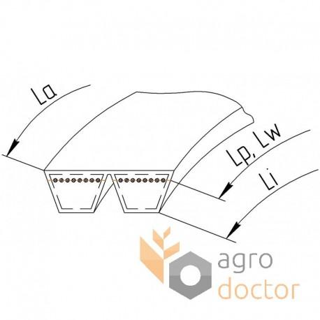 Wrapped banded belt 0123224 [Gates Agri] OEM:667251 for