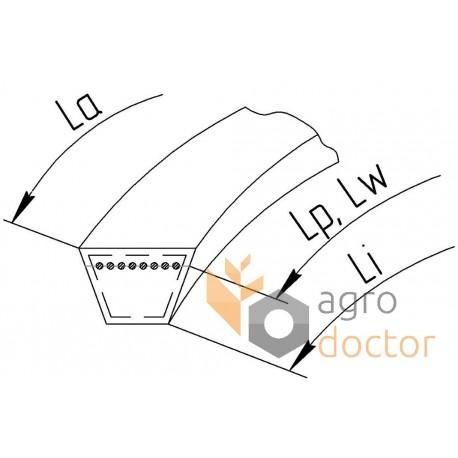 Приводной клиновой ремень B-2760Lw (B107) [Roulunds