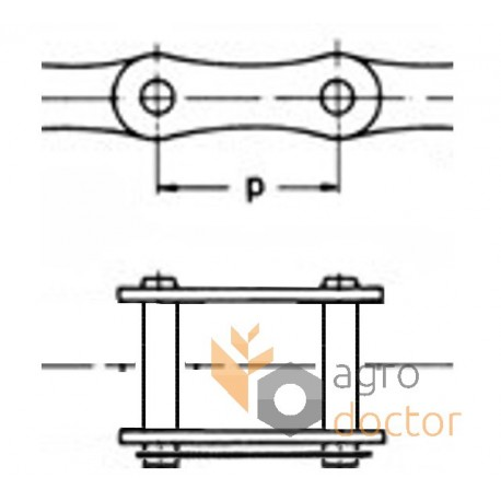 Chain-connect link 002858 Claas 12AH-1 [Rollon] OEM:002858