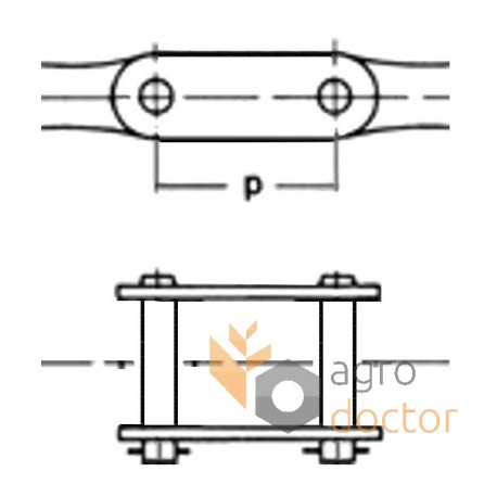 Chain-connect link 680493 Claas OEM:680493, 0006804931 for