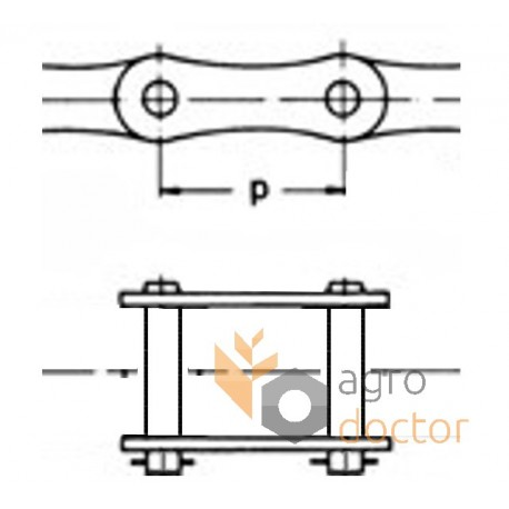 216A [Rollon] Roller chain connecting link for New Holland