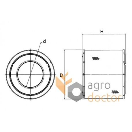 Air filter RE164839 [John Deere] OEM:RE164839 for John