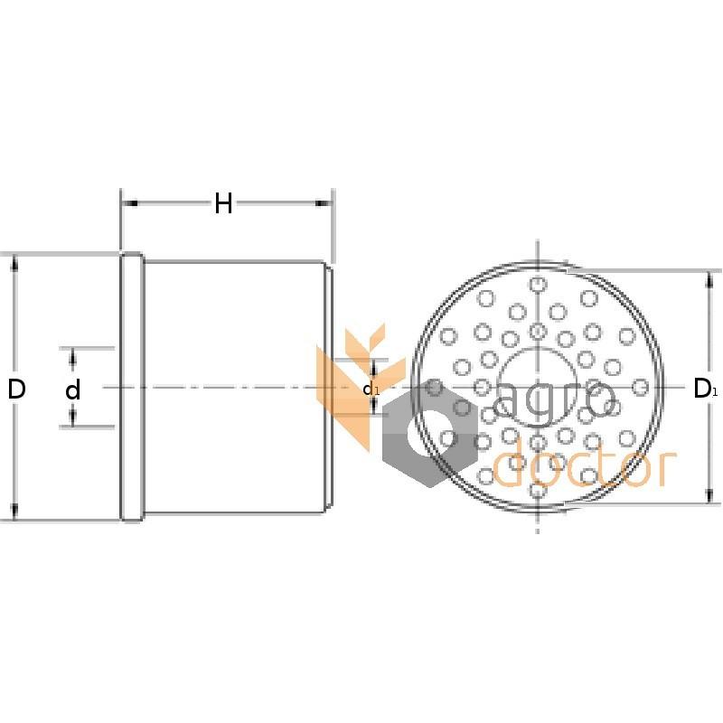 Fuel filter (insert) P556287 [Donaldson] OEM:D46443000