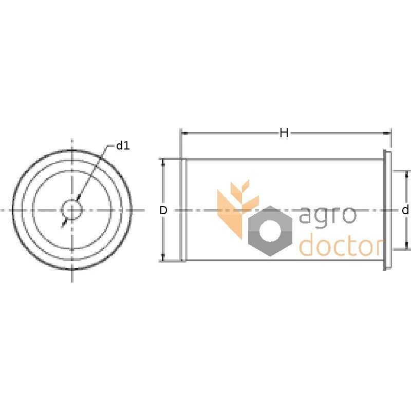 Air filter element AT44378 [Fleetguard] OEM:AT44378