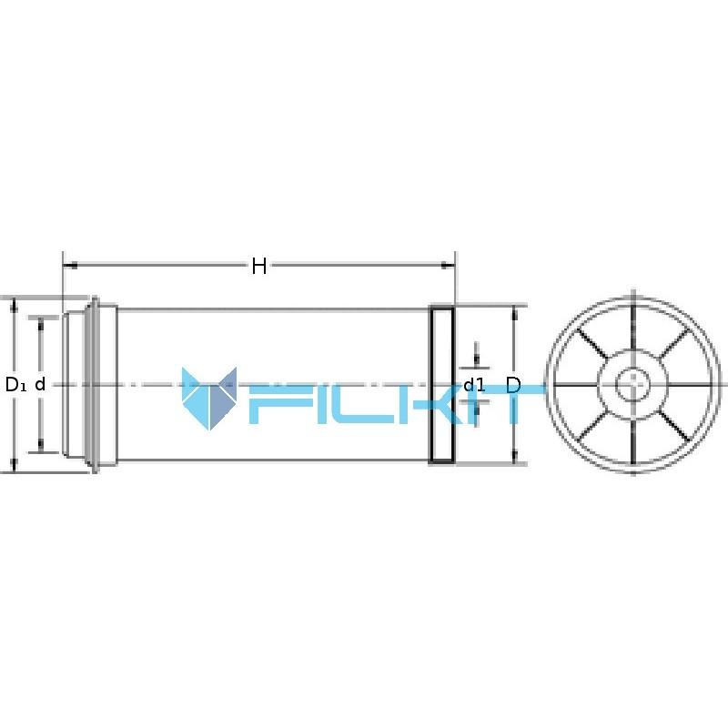 Air filter P119778 [Donaldson] OEM:AZ25867, P119778 for