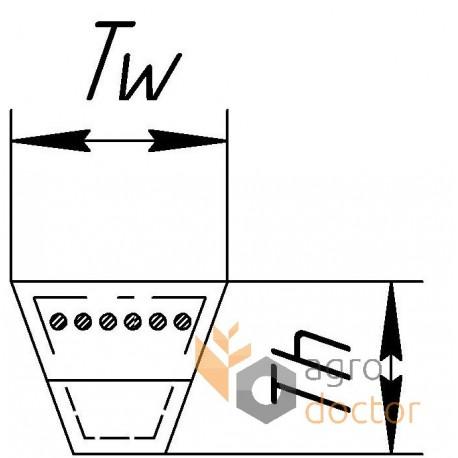 Ремень вентиляторный XPA-1250 [Roulunds] артикул:133523.0
