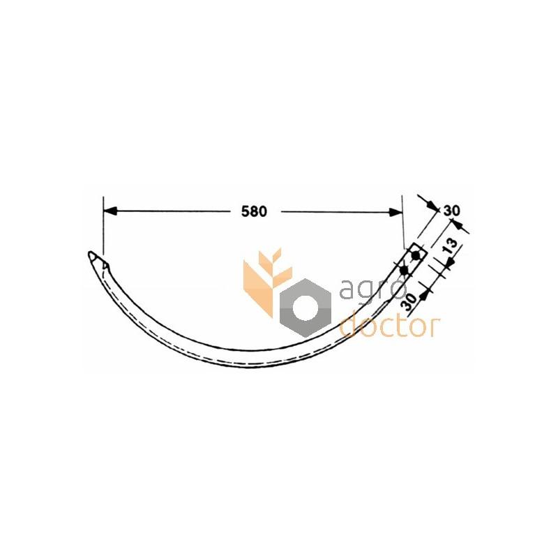Baler needle (aluminum) 1101.22.08.15 Welger OEM:1101.22