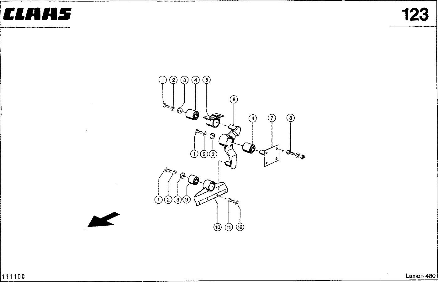 Комбайн зерноуборочный Claas: Lexion 480:Другие рабочие