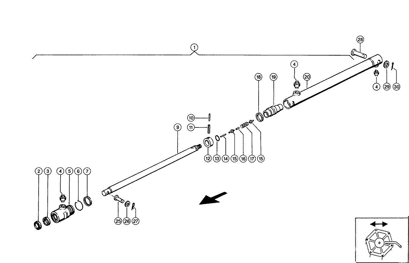 Combine harvester Claas: LEXION:Header Layout left