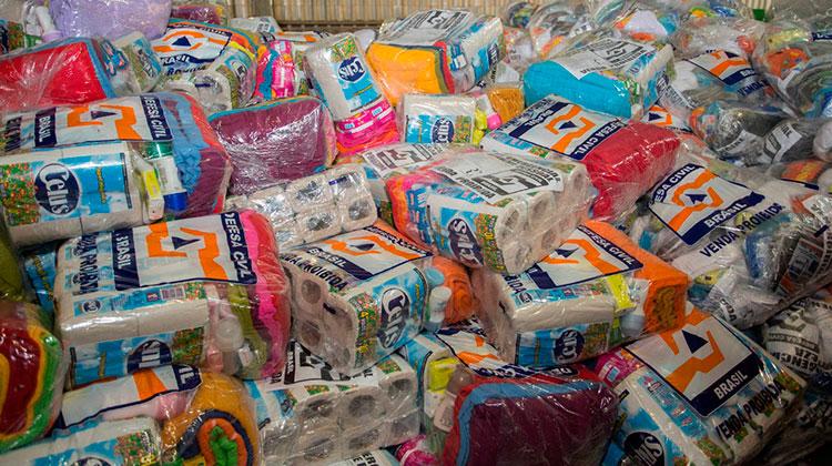 cestas alimentos material higiene