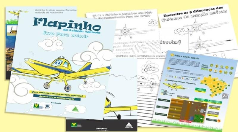Livro apresenta aviação agrícola brasileira para as crianças