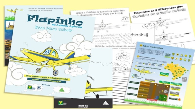livro infantil aviacao agricola