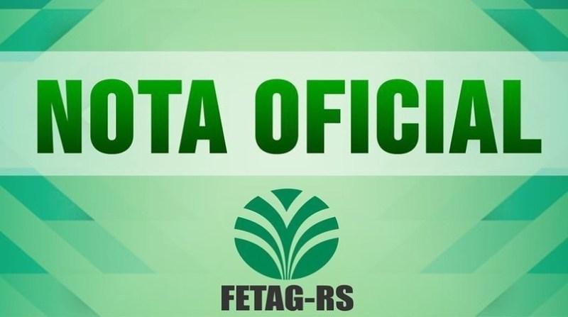 fetag rs nota oficial