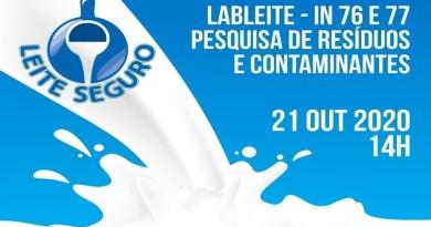 Pesquisa de resíduos e contaminantes do leite é tema de live da Embrapa