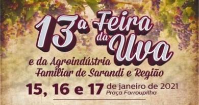 RS: Sarandi promove Feira da Uva e da Agroindústria Familiar