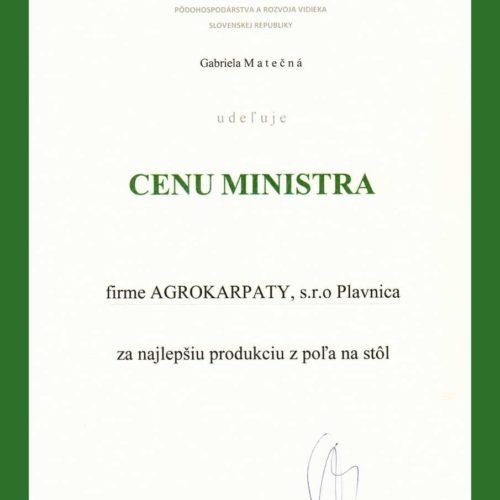 CENA MINISTRA