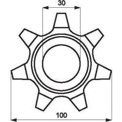 Zębatka elewatora Z-7 , podajnika elewatora 674143 pasuje