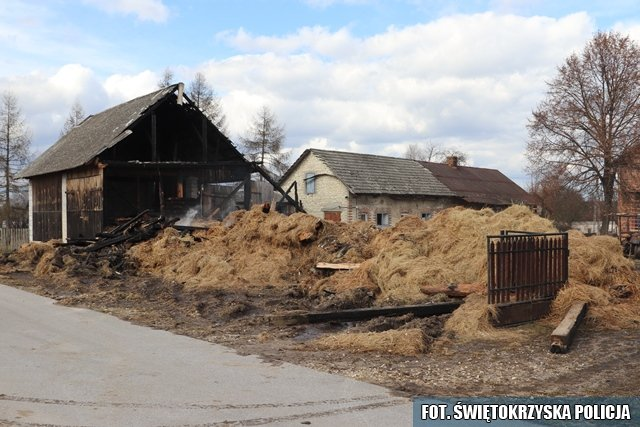 Podpalił stodołę z ciągnikiem i przyczepą w środku. Posiedzi 7 lat