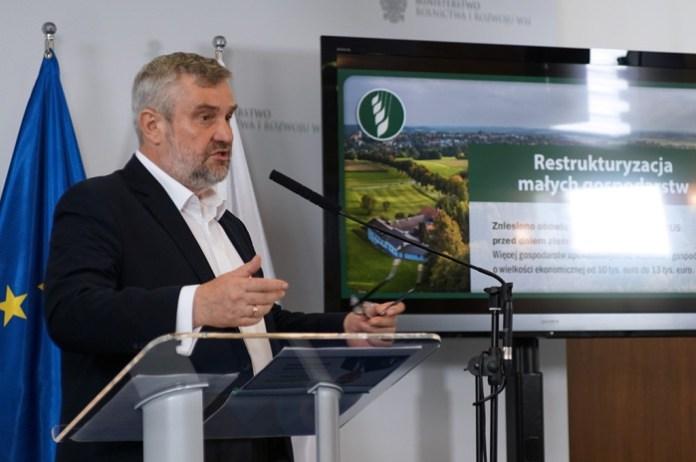 susza, rolniczy handel detaliczny, ustawa o obrocie ziemią, Jan Krzysztof Ardanowski