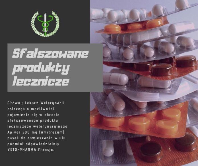 Ostrzeżenie o możliwości pojawienia się w obrocie sfałszowanego produktu leczniczego weterynaryjnego