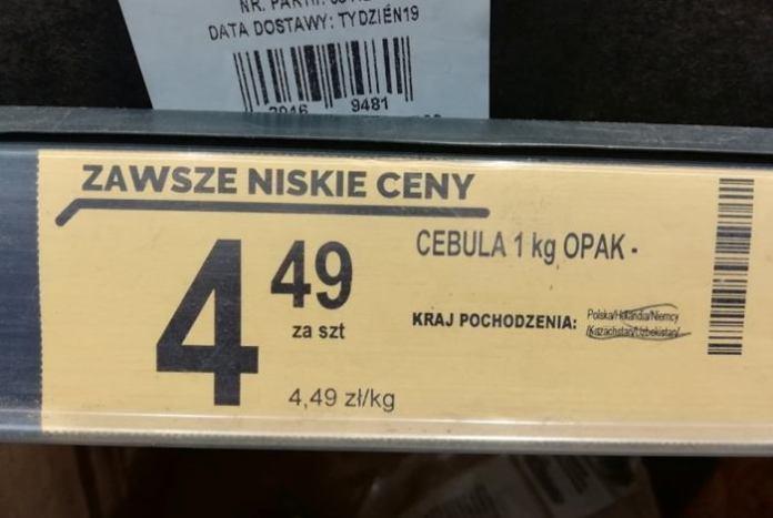 Ponad 60 mln zł kary dla Biedronki za błędne oznaczania pochodzenia owoców i warzyw
