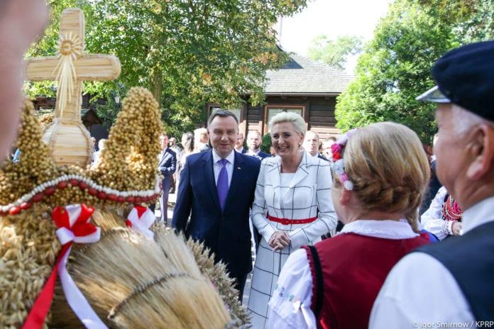 Dożynki w Spale, rolnik, rolnictwo, Andrzej Duda, susza