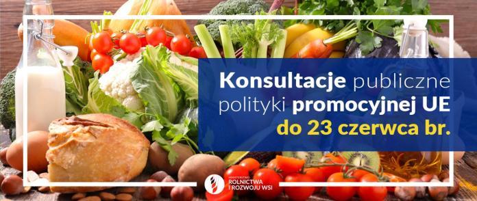Konsultacje publiczne polityki promocyjnej Unii Europejskiej