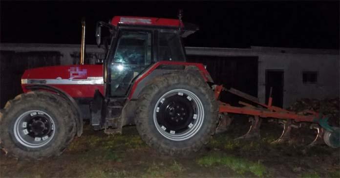 policja, zaorał drogę, pijany traktorzysta, wypadki na wsi