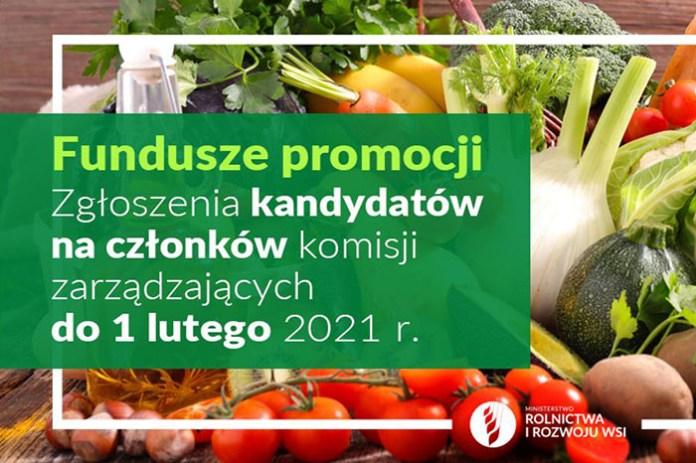 Nabór na członków komisji zarządzających funduszami promocji produktów rolno-spożywczych