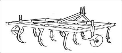 Figure n° 18 : Cultivateurs à dents rigides (DETRAUX ; OESTGES, 1979)