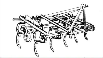 Figure n° 19 : Cultivateurs à dents flexibles (DETRAUX ; OESTGES, 1979)