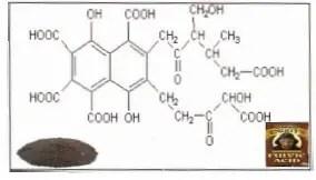 التركيب الكيميائي لحامض الفولفيك