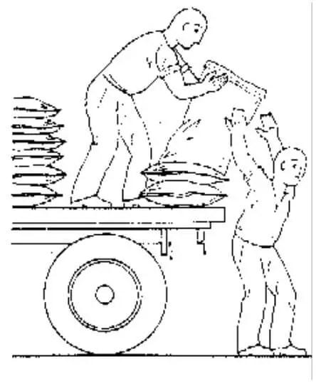 طريقة التنزيل السليمة للعبوات السمادية عند استخدام التحميل اليدوي الشخصي مع الكميات القليلة