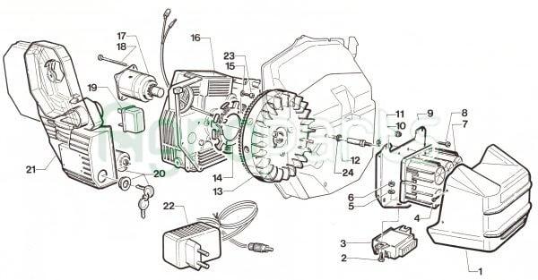 Agroparts.gr 4 Stroke Gasoline Engine Cotiemme CX 75