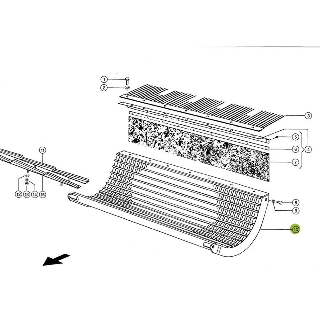 Combine Parts Claas Threshing Main Concave 20x40. OEM# 6633471