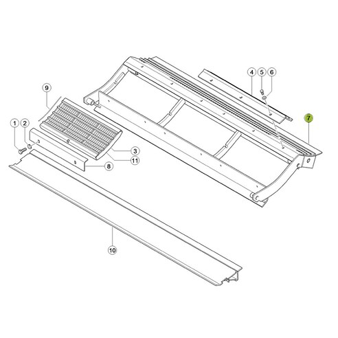 Pre-concave frame for Claas combine harvester. OEM 7772022