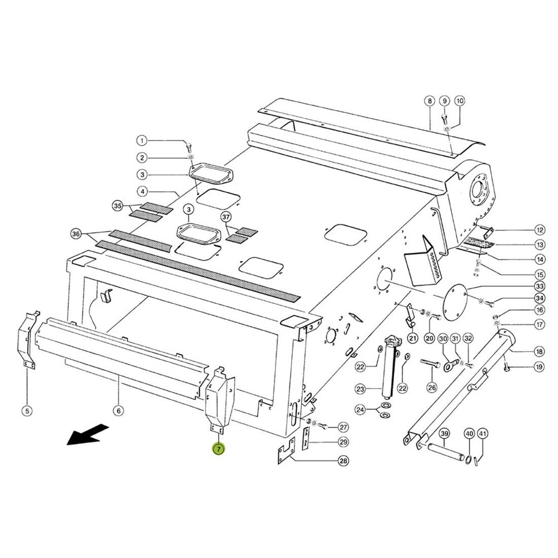 Combine Parts Claas Feeder End piece left. OEM# 6306794