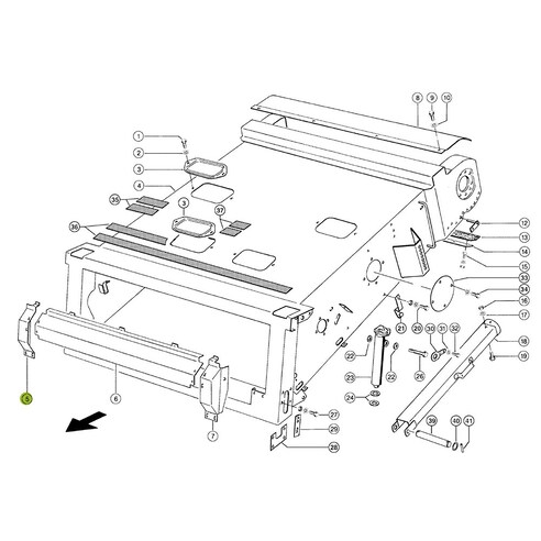 Cover strip for Claas combine harvester OEM 6306844.