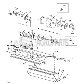 Parts for John Deere 9500 combine harvester