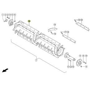 Combine Parts John Deere Threshing Concave Hardened. OEM