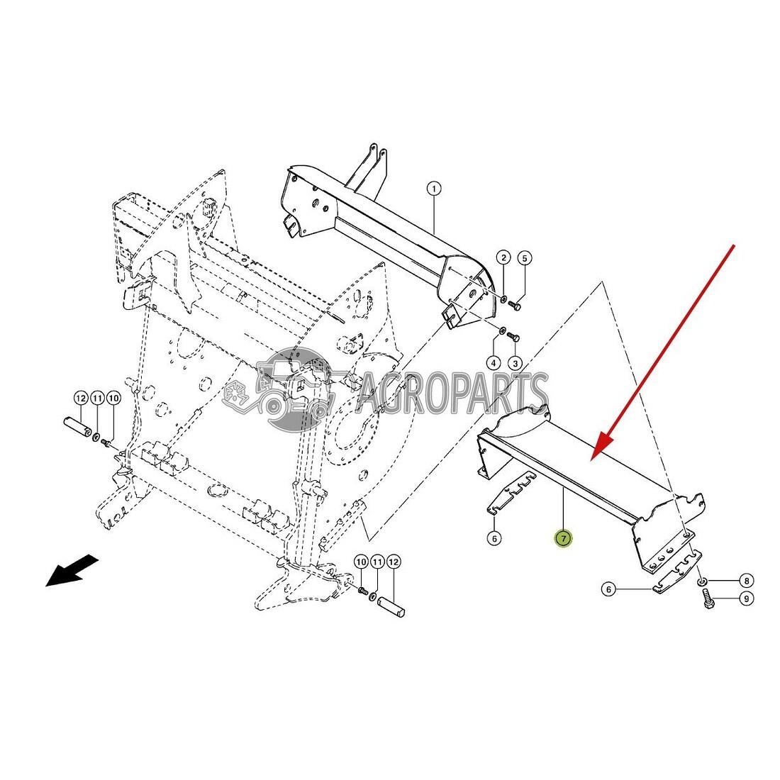 Forage Harvester Parts Claas Discharge Drum bottom