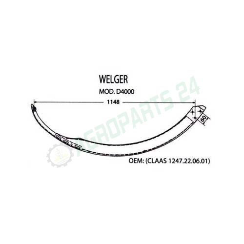 1247.22.06.01, 1247.22.06.13 Needle for Welger Balers