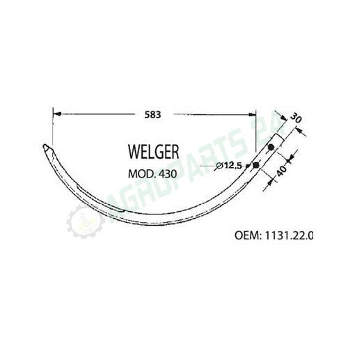 1131.22.03.01 Aluminium Needle for Welger Balers AP430