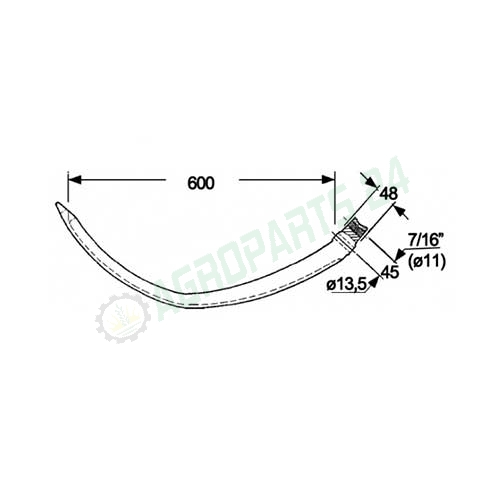 38762 Needle for New Holland 68, 69, 169, 171, 181, 268