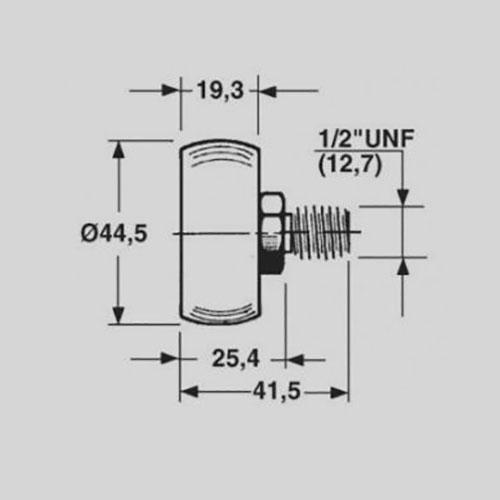 New Holland Sgorbati Laufrolle Maße: (Siehe Bilder) Teilnummer - 159486 1111/10901 2