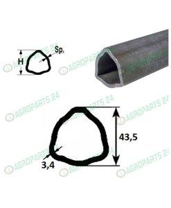 Zapfwelle Gelenkwelle L=1200, 1 3/8, Z=6, bis 75 PS, 80° 2