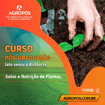 Pós-graduacao Solos e Nutrição de Plantas.