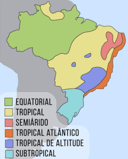 clima predominantes no Brasil