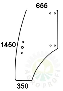 szyba drzwi lewe do Zetor 3321, 3341, 4321, 4341, Proxima